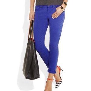 J. Crew Ankle Toothpick Indigo Blue Skinny Jeans